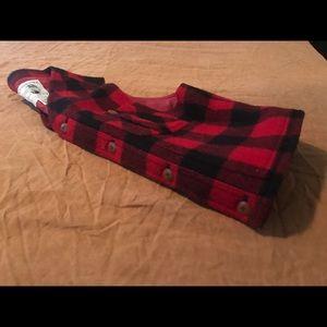 Vintage Banana Republican Red & Black Plaid Vest